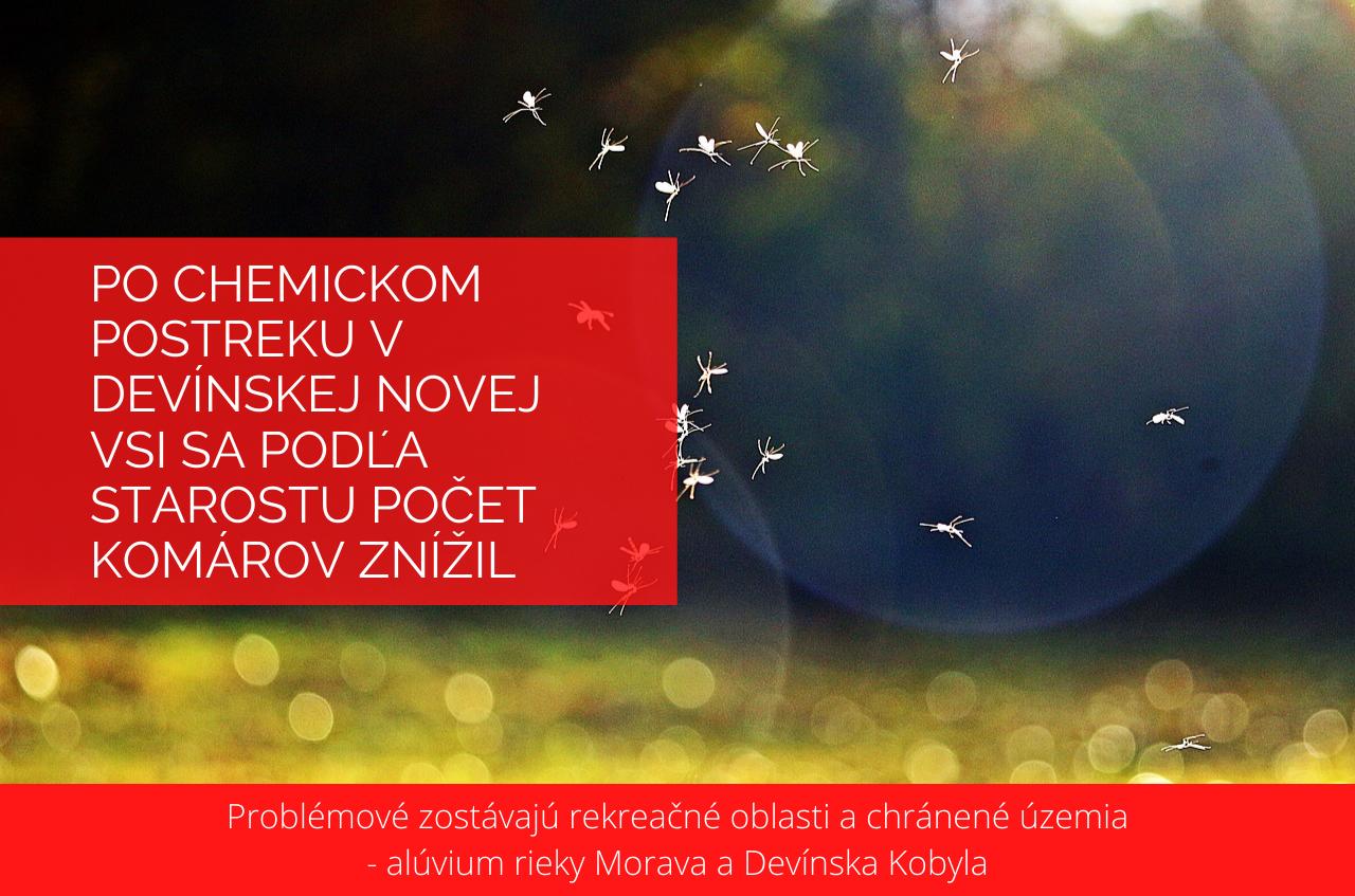 Po chemickom postreku v Devínskej Novej Vsi sa podľa starostu počet komárov znížil